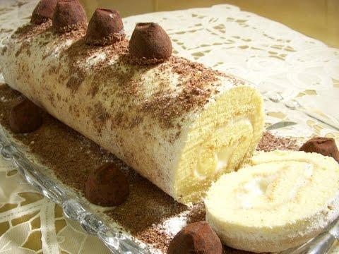 رولت خامه ای Cream Swiss Roll | Roulette Khameyi