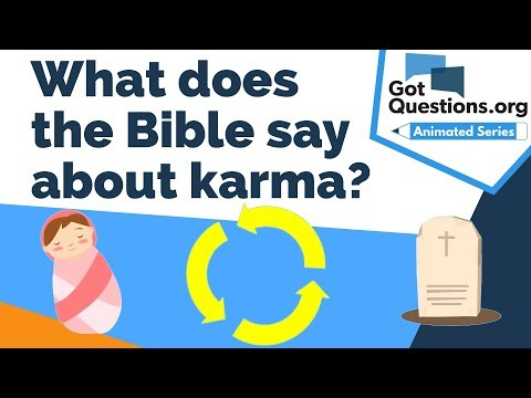 What does the Bible say about karma?