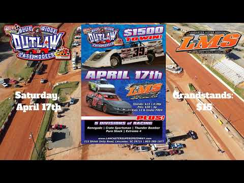 Blue Ridge Outlaw Late Models Promo at Lancaster 4/17/21 - dirt track racing video image