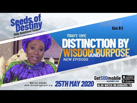 Dr Becky Paul-Enenche - SEEDS OF DESTINY - MONDAY, 25 MAY, 2020