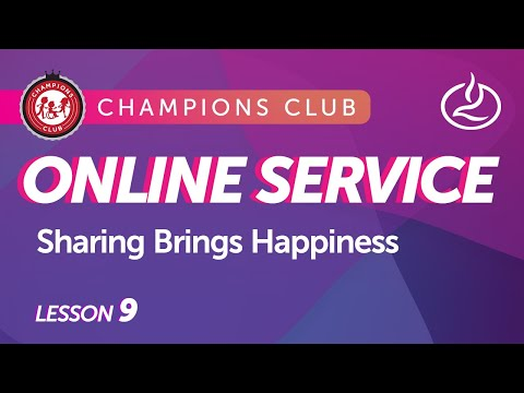 Champions Club Church Service for Individuals with Special Needs - Sharing Brings Happiness