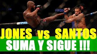 JON JONES vence a THIAGO SANTOS en una pelea ¿DESCAFEINADA?