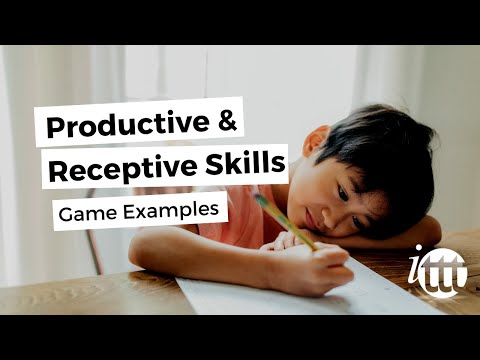 Productive and Receptive Skills in the ESL Classroom - Game Example 'Tic Tac Toe'