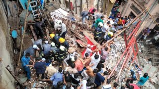 50 People Fear Trapped in Dongri Building Collapse