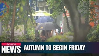 Nationwide rain to put an end to summer
