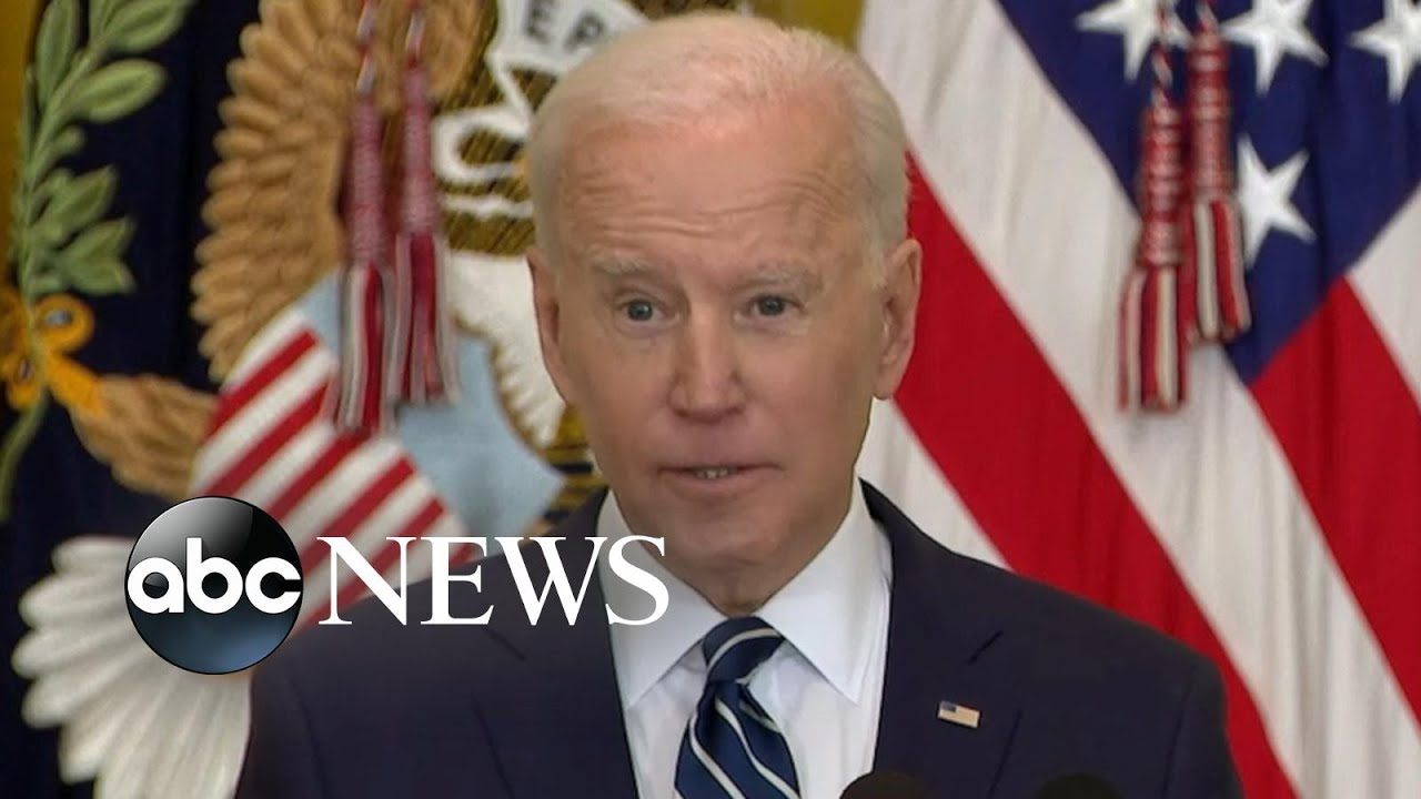 Key moments from Biden's 1st presidential press conference