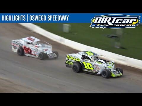 DIRTcar Sportsman Oswego Speedway October 10, 2021 | HIGHLIGHTS - dirt track racing video image