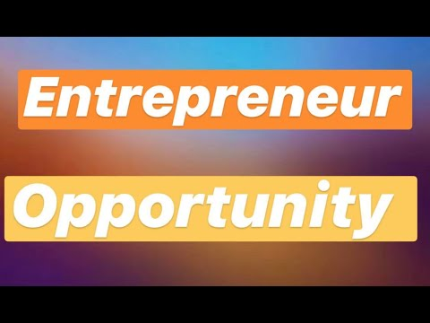 HUGE ENTREPRENEUR OPPORTUNITY