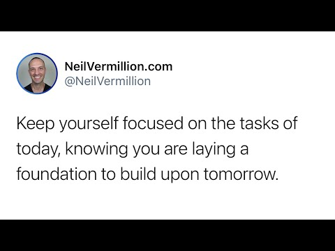 Keeping Focus For Today - Daily Prophetic Word