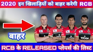 IPL 2020 List Of 7 Players Released By RCB Before The Auction | RCB Released Players List