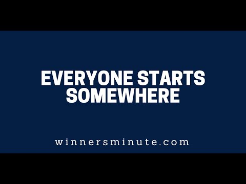 Everyone Starts Somewhere  The Winner's Minute With Mac Hammond