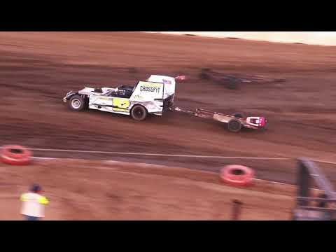 Perris Auto Speedway Figure 8 Trailer Race Main Event 7 -3-21 - dirt track racing video image
