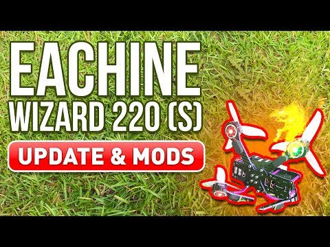 Eachine Wizard 220S - Does it Suck? - Change Receiver, Update VTX, Replace Arms - UCf_qcnFVTGkC54qYmuLdUKA