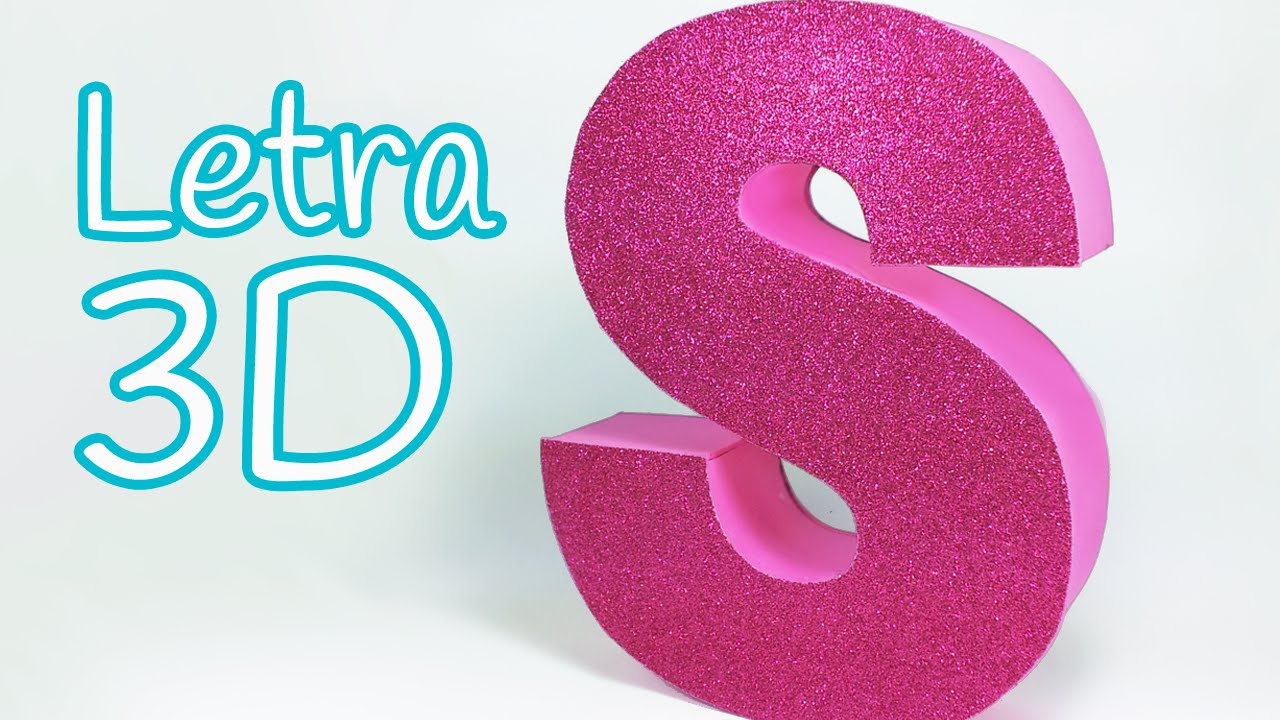 Manualidades: LETRAS en 3D para decorar tu cuarto - Innova ...