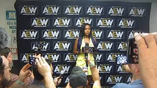Brandi Rhodes participates in media Q&A after AEW Fight for the Fallen in Jacksonville