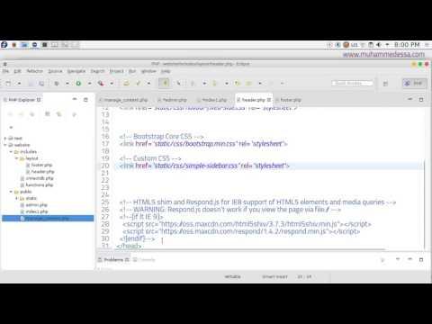11   PHP & MySQL CMS admin page style