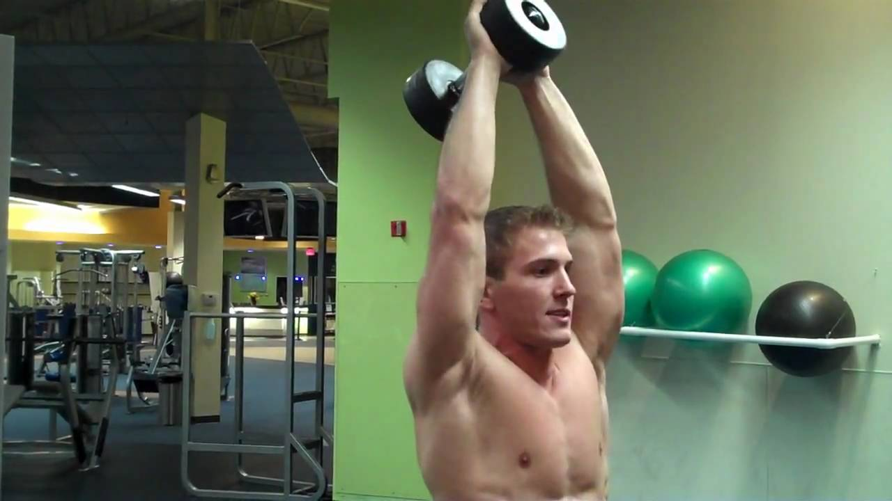 How To: Standing Overhead Dumbbell Tricep Extension