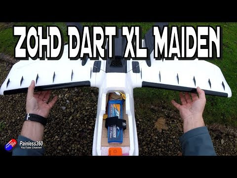 ZOHD Dart XL Maiden and Trimming Flight - UCp1vASX-fg959vRc1xowqpw