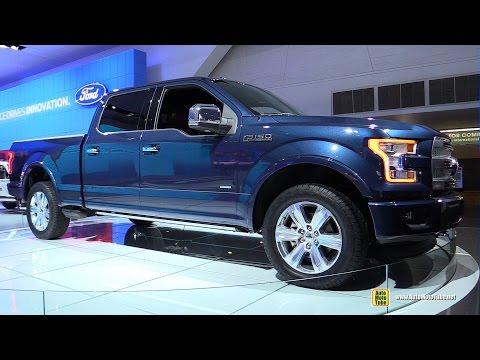2015 Ford F150 Platinum - Exterior and Interior Walkaround - 2015 Detroit Auto Show - automototube