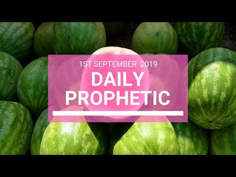 Daily Prophetic 1 September Word 3