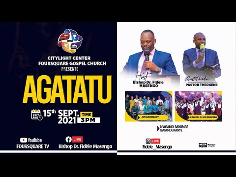 FOURSQUARE TV  AGATATU SERVICE WITH Pastor Theogene NIYONSHUTI  - 15.09.2021