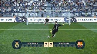Real Madrid vs FC Barcelona   Penalty Shootout   PES19