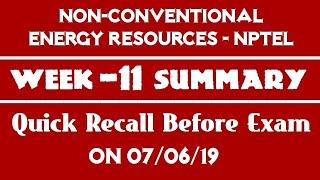 NCER-NPTEL | Week - 11 Summary | Quick Recap