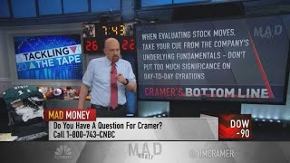 Jim Cramer's advice for spotting a stock's peak: Look for a counterintuitive move