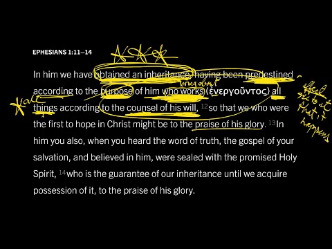 Ephesians 1:1114 // Part 3 // Why Does the Sovereignty of God Matter?