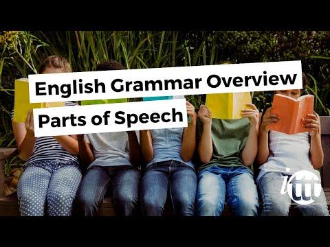 English Grammar Overview - Parts of Speech - Overview