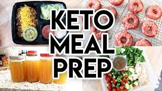 EPIC KETO MEAL PREP! 🔥 KETO DONUTS 🍩 EGG BITES 🍳 CHICKEN SALAD 🥗 JALAPENO POPPERS 🥓 LOW CARB
