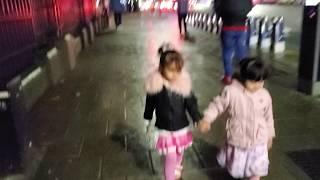 Fatima Masud exploring night beauty of London with her best friend Faatimah