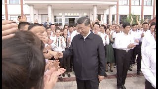 Xi Visits School, Horse Ranch During Inspection Tour in Northwest China