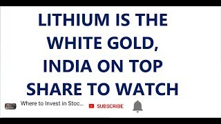 LITHIUM IS THE WHITE GOLD | INDIA ON TOP | SHARE TO WATCH