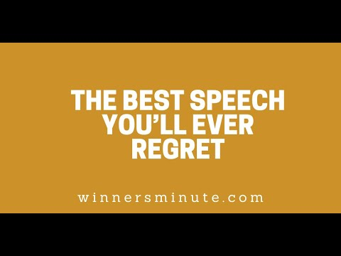 The Best Speech Youll Ever Regret // The Winner's Minute With Mac Hammond