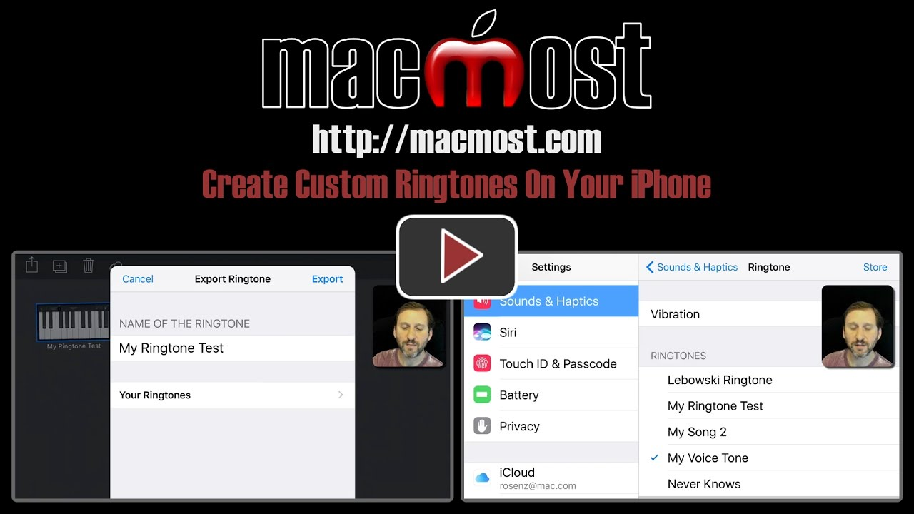 custom ringtone iphone create custom ringtones on your iphone macmost 10470