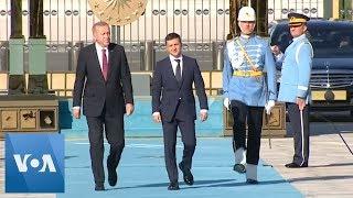Ukraine's Zelenskiy Holds Talks with Erdogan in Official Visit to Turkey
