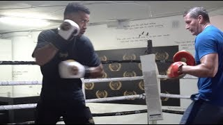 BIG FIGHT SOON? SAM MAXWELL SHOWS SPEED & POWER ON PADS WITH DANNY VAUGHAN AT MTK MARBELLA