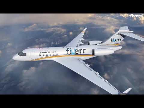 I will create amazing logo airplane youtube intro or outro video - Logo Animation Services