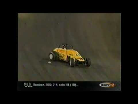 June 2, 2001 the USAC Silver Crown cars competed at Knoxville Raceway for the third time in series history. ESPN was there to televise the 100 lap event live. J.J. Yeley clawed his way through the field to get the win! - dirt track racing video image
