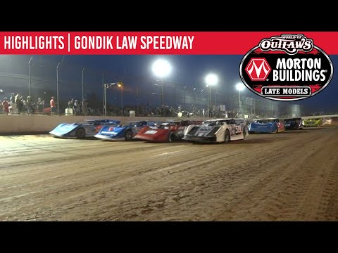 World of Outlaws Morton Building Late Models at Gondik Law Speedway July 13, 2021 | HIGHLIGHTS - dirt track racing video image