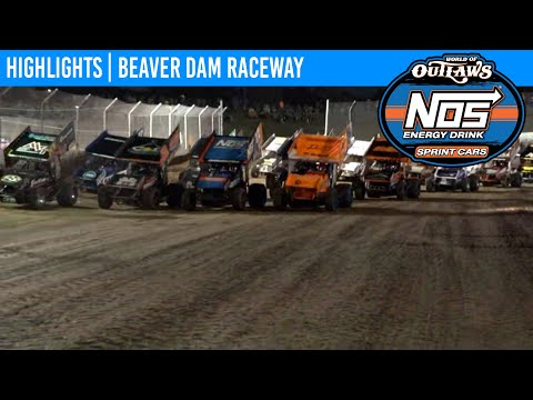 World of Outlaws NOS Energy Drink Sprint Cars at Beaver Dam Raceway June 19, 2021 | HIGHLIGHTS - dirt track racing video image