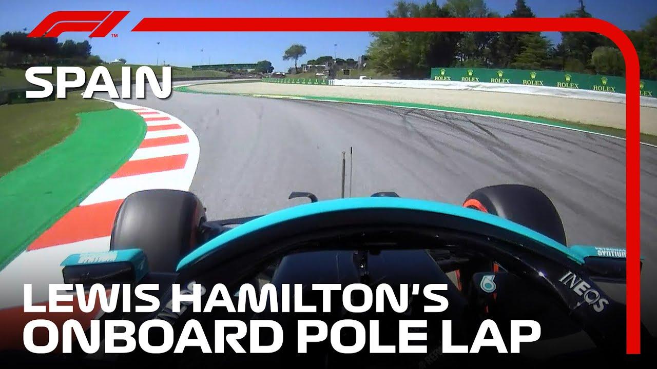 Lewis Hamilton's Onboard Pole Lap | 2021 Spanish Grand Prix | Pirelli