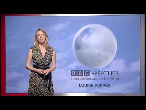 Louise Pepper BBC London news weather April 22nd 2011 Compilation HD