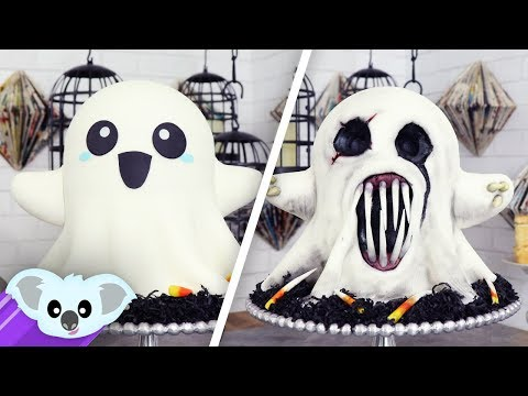 2 Faced Ghost Cake   Scary Halloween Ideas
