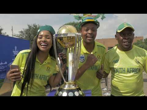 David Miller and Lungi Ngidi join the CWC Trophy Tour in Johannesburg!