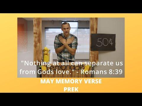 May Memory Verse  PreK