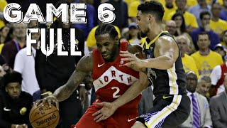 IF KD AND KLAY PLAYED GAME 6 | GS Warriors vs Toronto Raptors - Game Highlights | 2019 NBA Finals