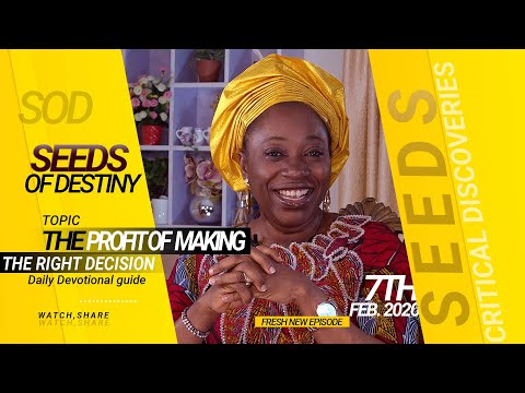 Dr. Becky Paul-Enenche - SEEDS OF DESTINY - FRIDAY 7TH FEBRUARY, 2020