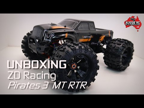 Unboxing: ZD Racing Pirates 3 Monster Truck RTR - UCOfR0NE5V7IHhMABstt11kA